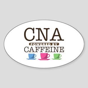 CNA Powered by Caffeine Oval Sticker