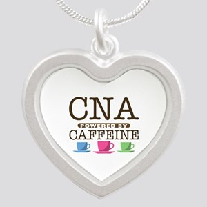 CNA Powered by Caffeine Silver Heart Necklace