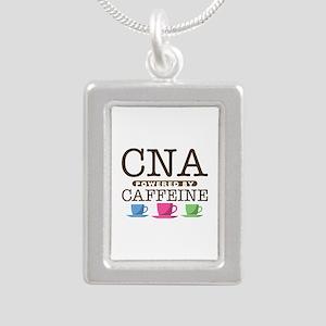 CNA Powered by Caffeine Silver Portrait Necklace