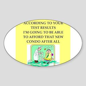 icu doctor joke gift apparel Sticker (Oval)