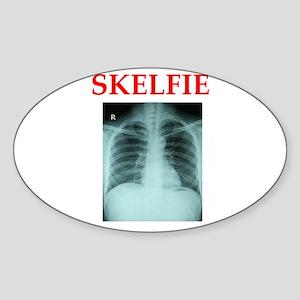 RADIOLOGY JOKE Sticker (Oval)