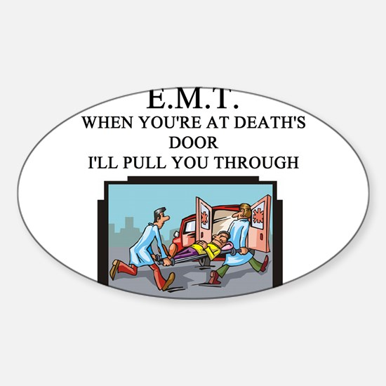 EMT.png Sticker (Oval)