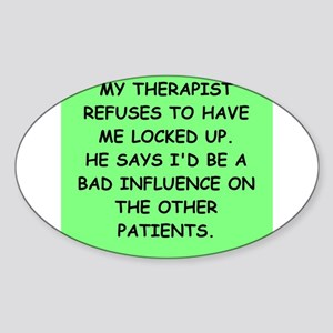 THERAPY Sticker (Oval)