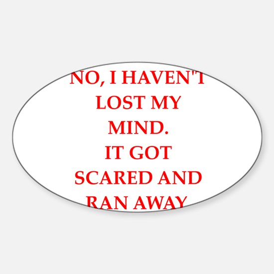 mind Sticker (Oval)