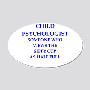 child psychologist 20x12 Oval Wall Decal