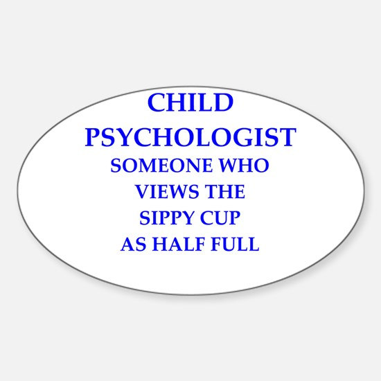 child psychologist Sticker (Oval)