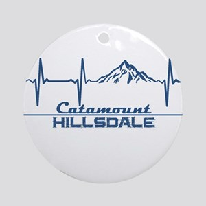 Catamount Ski Area - Hillsdale - Round Ornament
