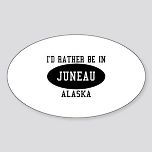 I'd Rather Be in Juneau, Alas Oval Sticker