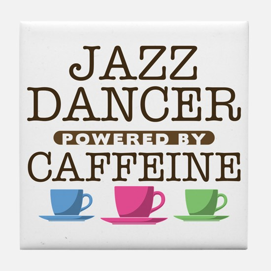 Jazz Dancer Powered by Caffeine Tile Coaster