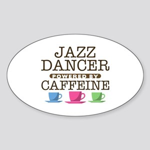 Jazz Dancer Powered by Caffeine Oval Sticker