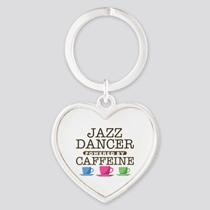 Jazz Dancer Powered by Caffeine Heart Keychain