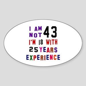 43 Birthday Designs Sticker (Oval)