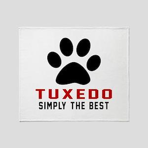 Tuxedo Simply The Best Cat Designs Throw Blanket