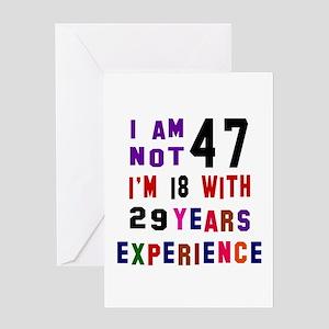 47 Birthday Designs Greeting Card