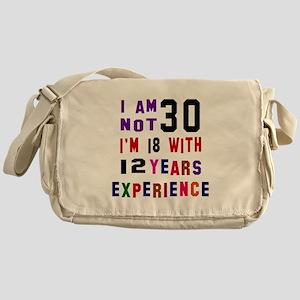 30 Birthday Designs Messenger Bag