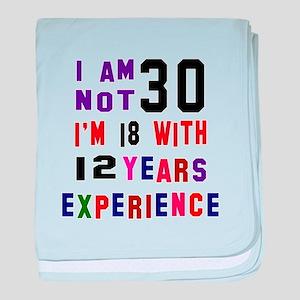 30 Birthday Designs baby blanket