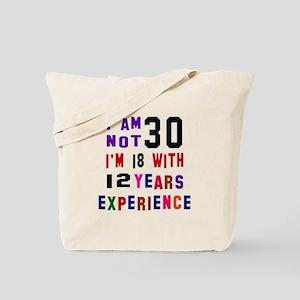30 Birthday Designs Tote Bag