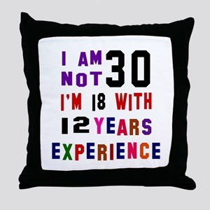 30 Birthday Designs Throw Pillow