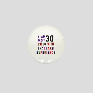 30 Birthday Designs Mini Button