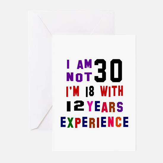 30 Birthday Designs Greeting Cards (Pk of 10)