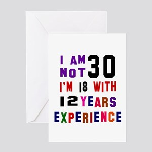 30 Birthday Designs Greeting Card