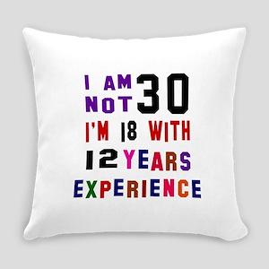 30 Birthday Designs Everyday Pillow
