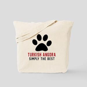 Turkish Angora Simply The Best Cat Design Tote Bag