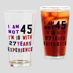45 Birthday Designs Drinking Glass
