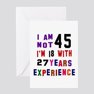 45 Birthday Designs Greeting Card
