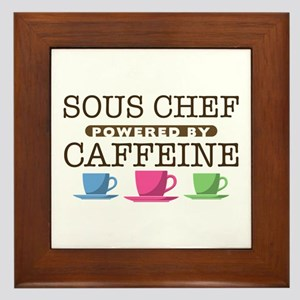 Sous Chef Powered by Caffeine Framed Tile