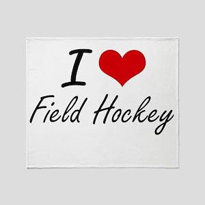 I love Field Hockey Throw Blanket