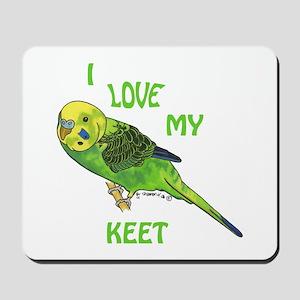 Green Keet Mousepad
