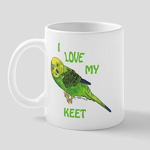 Green Keet Mug