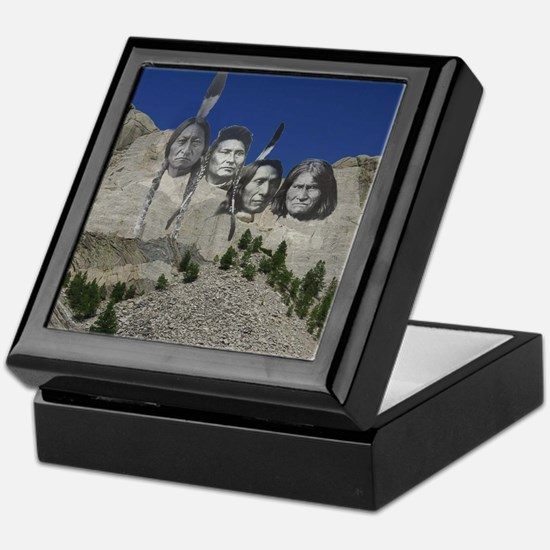 Native Mt. Rushmore Keepsake Box