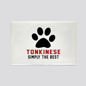 Tonkinese Simply The Best Cat Des Rectangle Magnet