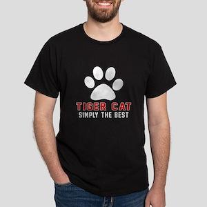 Tiger cat Simply The Best Cat Designs Dark T-Shirt