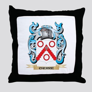 Cherrie Coat of Arms - Family Crest Throw Pillow