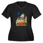 Frontenac Castle with Lys Flo Women's Plus Size V-