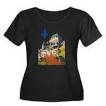 Frontenac Castle with Lys Flo Women's Plus Size Sc