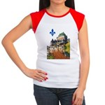 Frontenac Castle with Lys Flo Women's Cap Sleeve T
