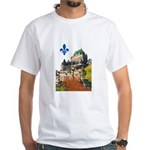 Frontenac Castle with Lys Flo White T-Shirt