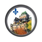 Frontenac Castle with Lys Flo Wall Clock