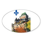 Frontenac Castle with Lys Flo Oval Sticker