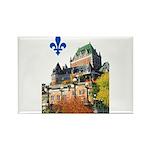 Frontenac Castle with Lys Flo Rectangle Magnet (10