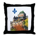Frontenac Castle with Lys Flo Throw Pillow