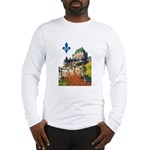 Frontenac Castle with Lys Flo Long Sleeve T-Shirt