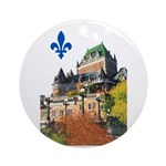 Frontenac Castle with Lys Flo Ornament (Round)