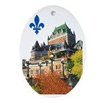 Frontenac Castle with Lys Flo Oval Ornament