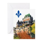 Frontenac Castle with Lys Flo Greeting Cards (Pk o