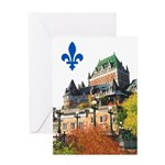 Frontenac Castle with Lys Flo Greeting Card